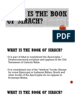 What is the Book of Sirach