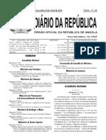 Decreto Executivo 97/14 Gestão de Descargas Operacionais