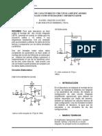 La Aplicación de Capacitores en Circuitos Amplificadores Operacionales Como Integrador y Diferenciador