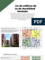 Análisis de Edificio de Muros de Ductilidad Limitada