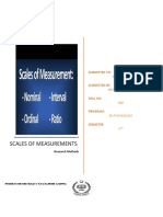 Scales of Measurements