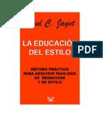 Jagot Paul - La Educación Del Estilo
