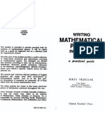 Writing Mathematical Papers in English a Practical Guide