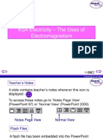 KS4 Electrictiy - The Uses of Electromagnetism