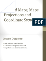 2_GIS and Maps, Maps Projections and Coordinate