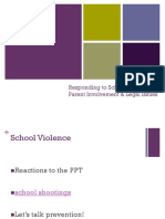 school violence legal issues and parent invovlement