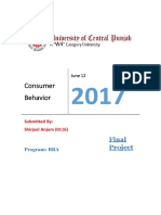 Consumer Behavior (SHIRJEEL ANJUM)