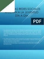 Como Las Redes Sociales Afectan a La Juventud
