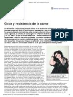 Página_12 __ Las12 __ Goce y Resistencia de La Carne