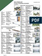 Accessory Pricelist