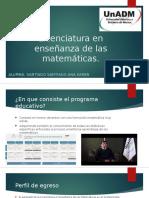 Licenciatura en Enseñanza de Las Matemáticas PROMOCIONAL