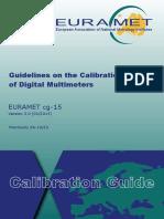 EURAMET Cg-15 v3.0 Guidelines on the Calibration of Digital Multimeters