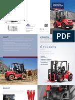 Four Wheel Drive Rough Terrain Forklift