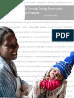 Six Steps Towards Ending Preventable Maternal Mortality