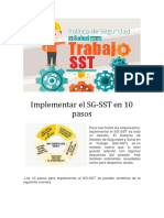 Implementar GS SST 10 Pasos