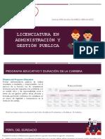 Licenciatura en Administración y Gestión Publica