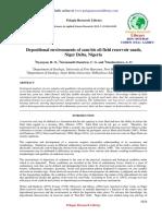 Depositional Environments of Sambis Oil Field Reservoir Sandsniger Delta Nigeria