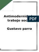 Antimodernidad y Trabajo Social, Gustavo-Parra