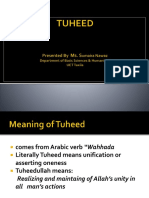 Lecture on Tuheed