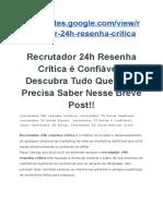 Recrutador 24h Resenha Crítica【A VERDADE OCULTA NOS BASTIDORES → CONFIRA 】