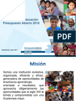 MINEDUC Presupuesto 2018 Abierto