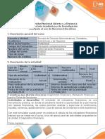 Inicial Guía de Actividades y Rúbrica de Evaluación - Paso 1 - Reconocimiento General Del Curso