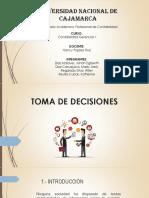 Toma de Decisiones y Cualidades de La Informacion