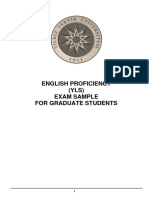 English Proficiency Exam (YLS) for Graduate Students_Sample 1