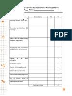 Rúbrica Evaluación de 7mos Básicos 2