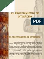 PROCESAL CIVIL III Tema 13 El Procedimiento de Intimación