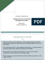 Design of CRT Analyzer