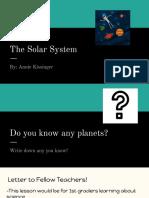 the solar system  1