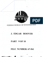 FBI Dossier of J. Edgar Hoover (FOIA Declassified), Part 9