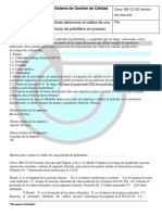 Método Determinar El Calibre de Una Película de Polietileno en Proceso.