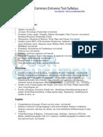 GCET-2013-Syllabus