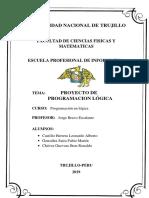 """Programación en lógica_ """"Sistema basado en conocimiento para el diagnóstico de enfermedades psicológicas en niños de 4 a 10 años en el Consultorio Arturo Novoa psicología y psicoterapia- Trujillo"""""""