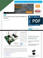 Location Tracker Using Gsm Sim800 and Arduino