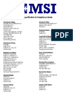 MSI Specificationand Compliance Guide