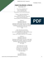 Enrique Iglesias Lyrics - Somebody's Me