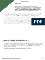 03).- Comparación Entre VAN y TIR