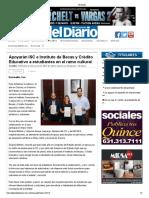 26-04-10 - ELDIARIO - Apoyarán ISC e Instituto de Becas y Crédito Educativo a estudiantes en el ramo cultural