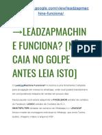 → LeadZapMachine ImpaCto de Vendas [NÃO Caia no GOLPE Antes Leia ISTO]