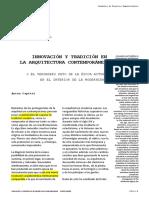Innovación y Tradición en La Arquitectura Contemporánea. Antón Capitel