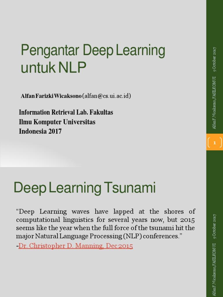 Memahami Deep Learning docx   Deep Learning   Artificial Neural Network