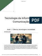 tecnologia da informação e comunicação