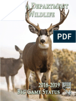 Nevada Department of Wildlife - 2018-2019 Big Game Status Book