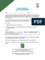 Study Skills Questionnaire