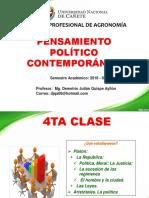 4ta Clase de Pensamiento Politico Contemporaneo