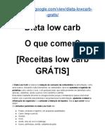 Dieta low carb O que comer? [Receitas low carb GRÁTIS]