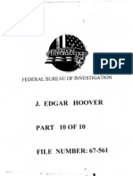 FBI Dossier of J. Edgar Hoover (FOIA Declassified), Part 10a
